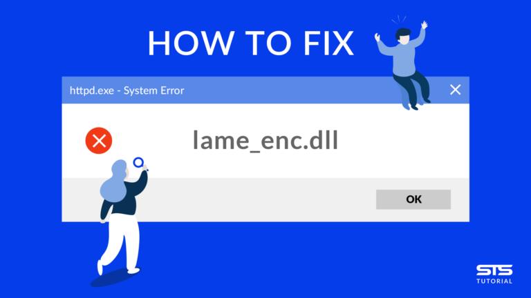 Fix error lame_enc.dll