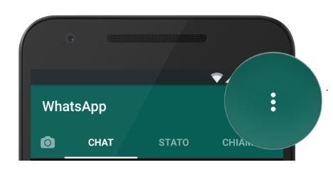 tasto Altre opzioni whatsapp