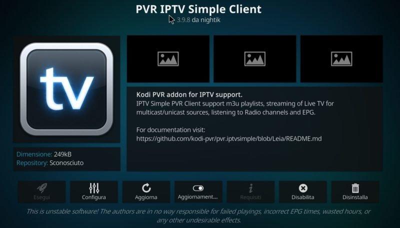 PVR simple Client